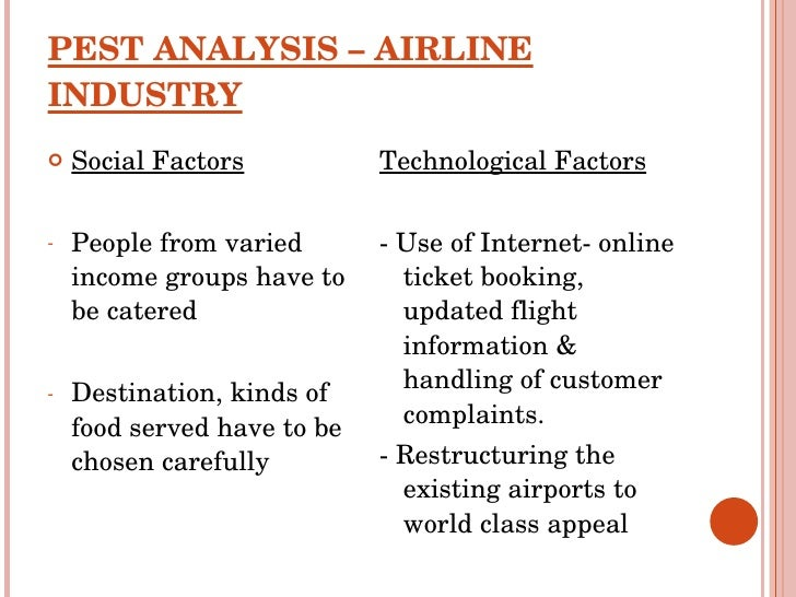 airline pest analysis Sample of pestle analysis for virgin group essay (you can also order custom written pestle analysis for virgin group essay.