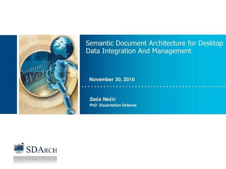 INFORMATION MANAGEMENT                    Semantic Document Architecture for Desktop                    Data Integration A...