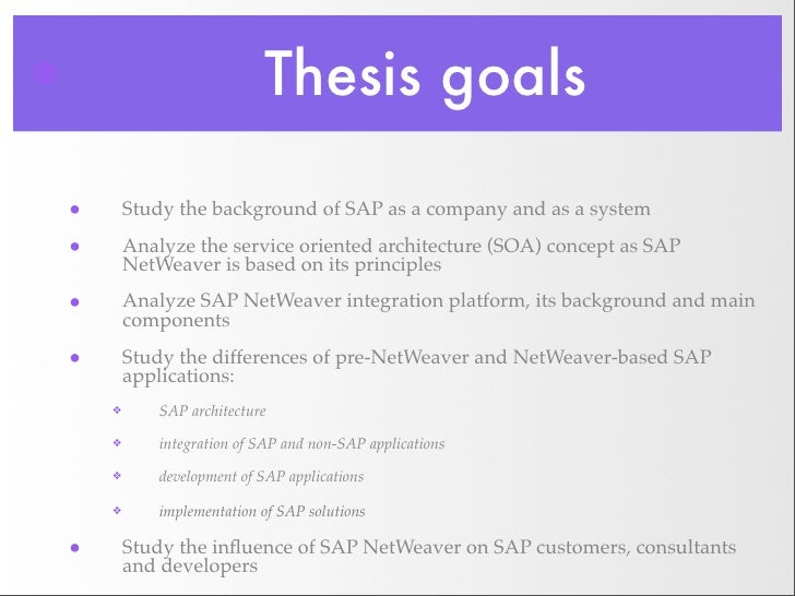 Erp master sap thesis