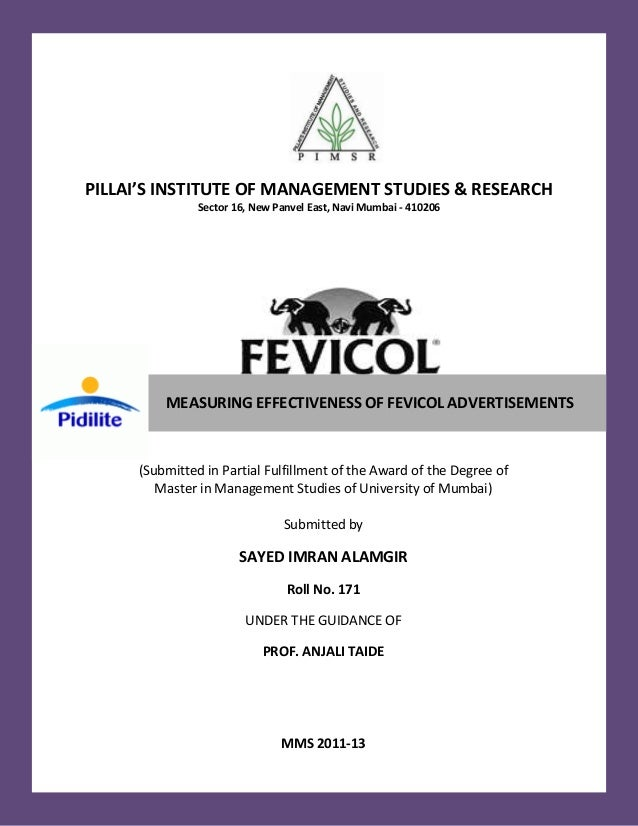 Measuring Effectiveness of Fevicol Advertisements