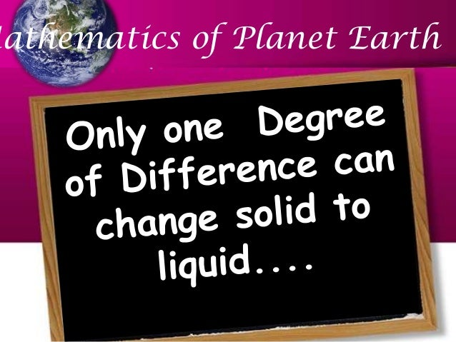 Mathematics of Planet Earth Global Warming