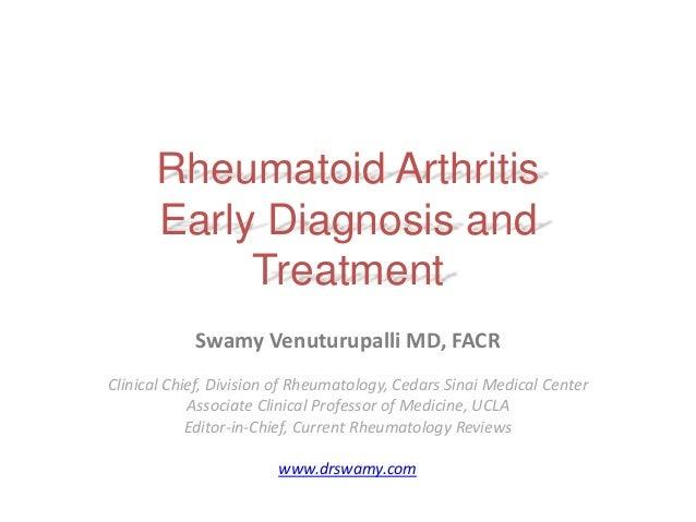 Rheumatoid Arthritis: Early Diagnosis and Treatment