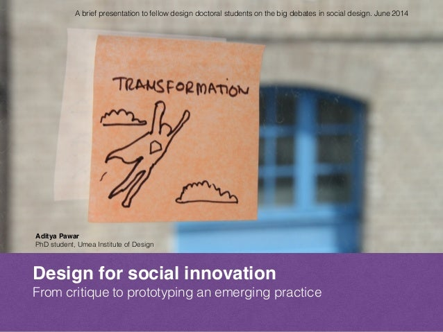How could we prototype a social design practice?