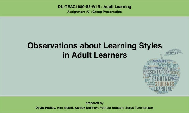 Learners learning strategies adult