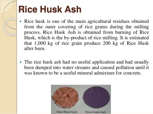 elemental analysis of rice husk ash Documents similar to utilization of recycle paper mill residue and rice husk ash.
