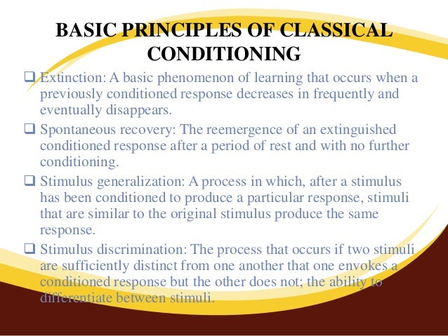 principles of classical conditioning pdf