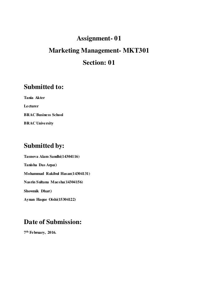 Term paper for marketing