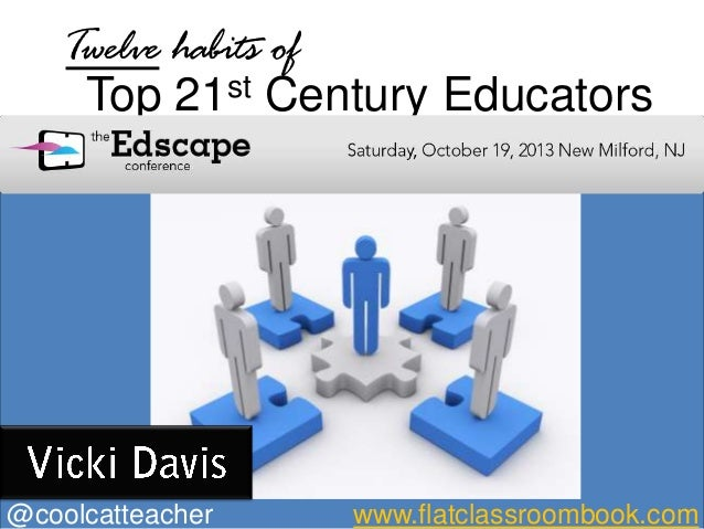 Twelve habits of     Top 21   st Century Educators@coolcatteacher   www.flatclassroombook.com
