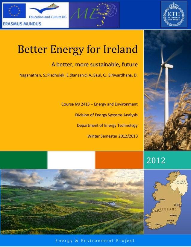 Better Energy For Ireland