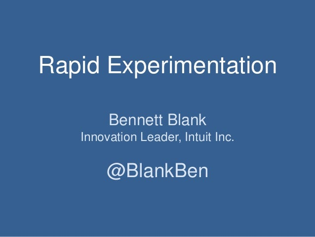 From Caesar to Scientist - Rapid Experiments at Intuit