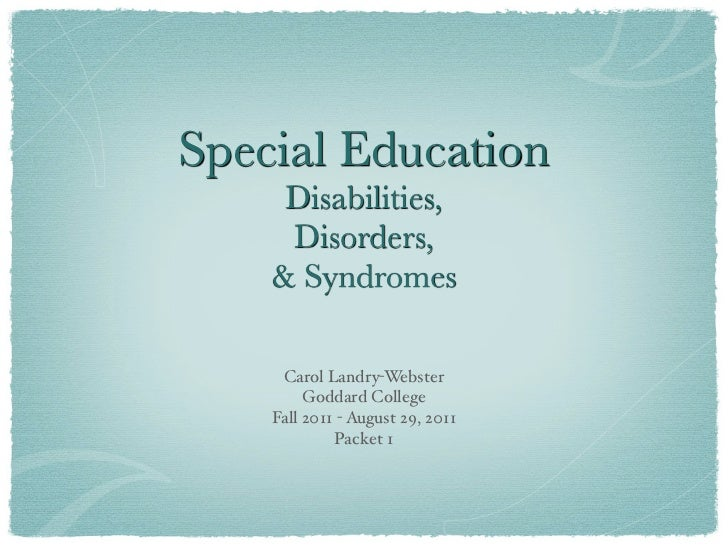 Disabilities Slide Pres