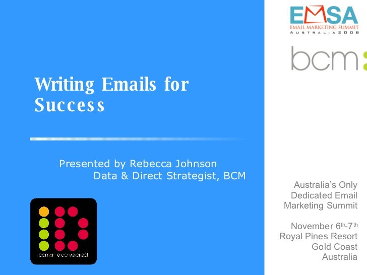 Writing emails for success