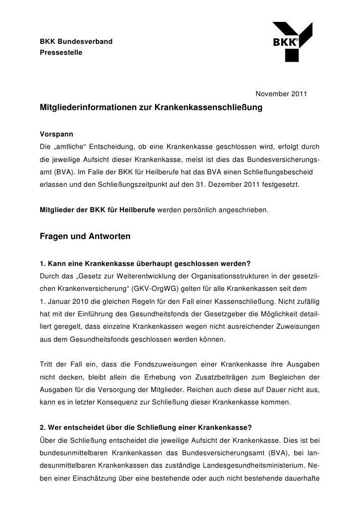 ®BKK BundesverbandPressestelle                                                                  November 2011Mitgliederinf...