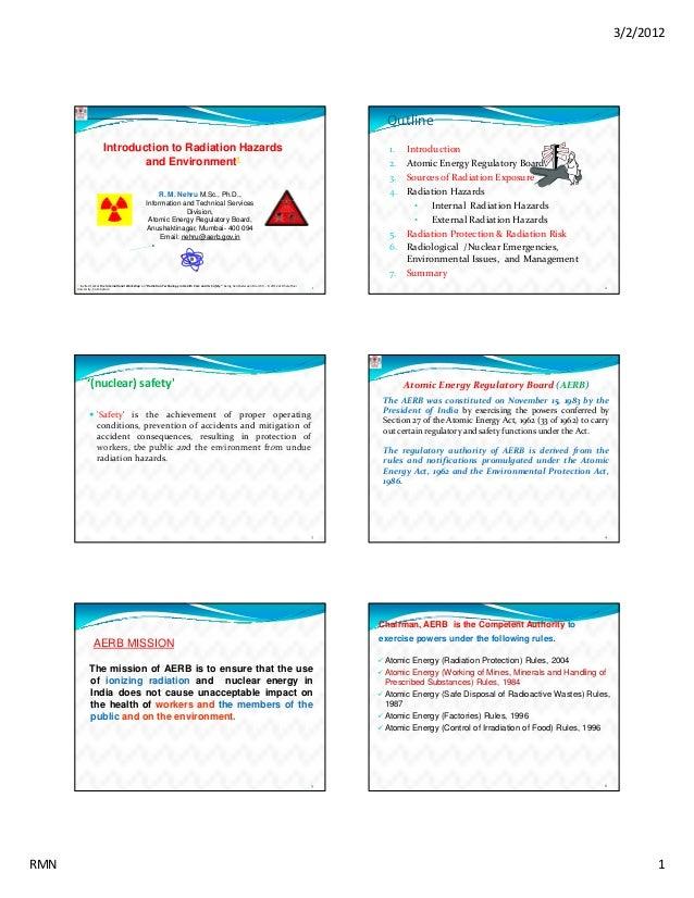 Final introduction-to-radiation-hazards-environemnt-by-rm-nehru