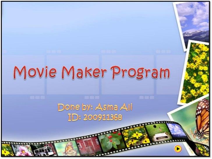 Final.movie m aker program presentation