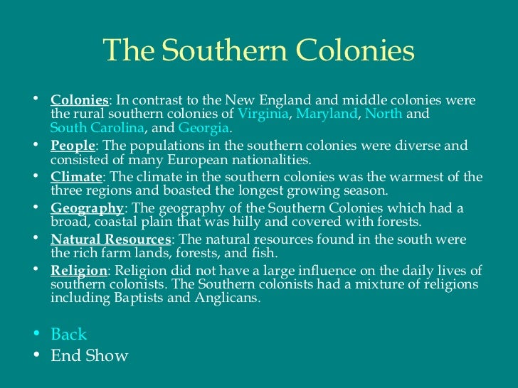 Essay about the 13 colonies