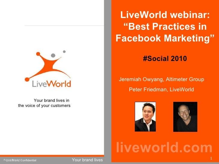 Webinar: Best Practices in Facebook Marketing