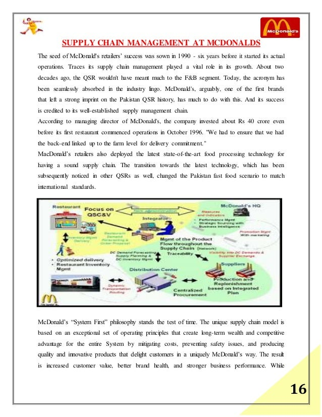 mcdonalds supply chain management case study Mcdonalds supply chain a case study on mcdonald's supply-chain in india kshitij ghumaria i will understand the supply chain management of mcdonald.