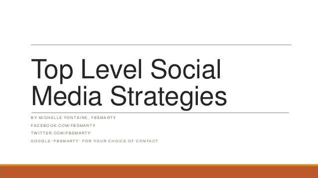 Top Level Social Media Strategies by FB Smarty