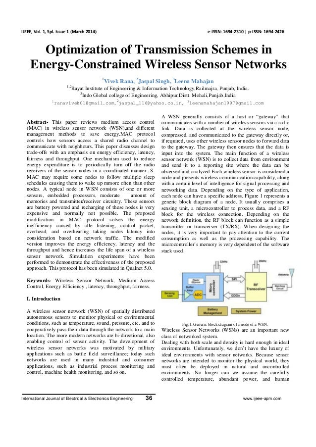 Optimization of Transmission Schemes in Energy-Constrained Wireless Sensor Networks