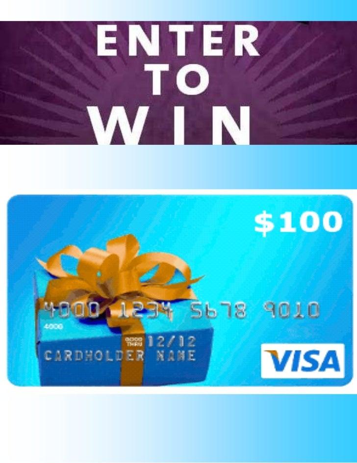 $100 Visa Gift Card Piece
