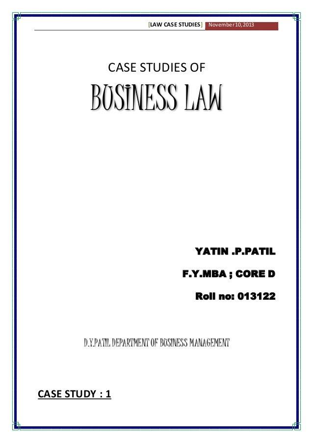 law and economics case study