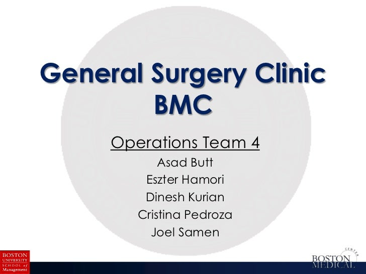 Operations Presentation on the General Surgery Clinic at Boston Medical Center