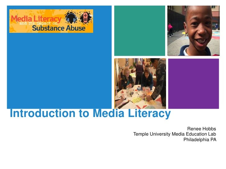 Introduction to Media Literacy for Substance Abuse Prevention