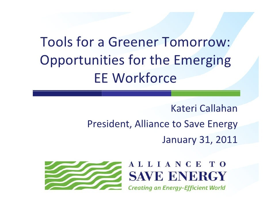 Tools for a Greener Tomorrow:  Opportunities for the Emerging EE Workforce