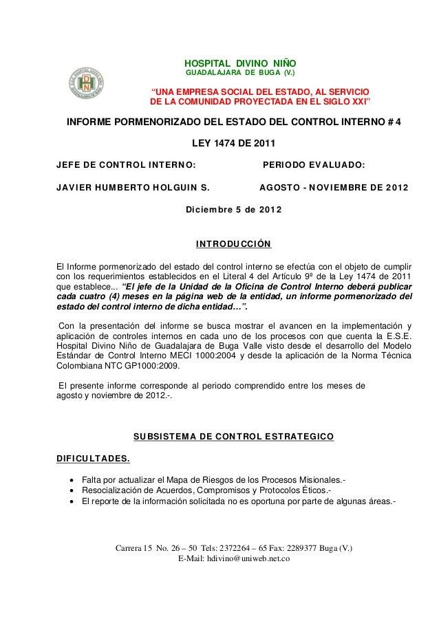 """HOSPITAL DIVINO NIÑO                                  GUADALAJARA DE BUGA (V.)                        """"UNA EMPRESA SOCIAL ..."""