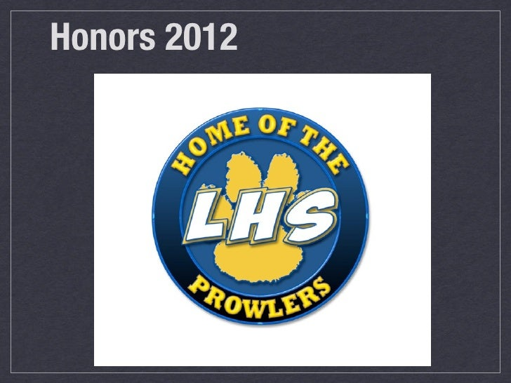 Honors 2012