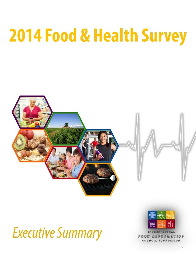 Final 2014 food and health survey executive summary