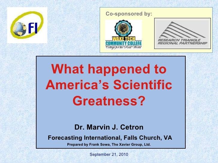 America's Scientific Greatness?