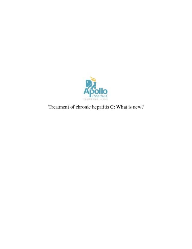 Treatment of chronic hepatitis C: What is new?