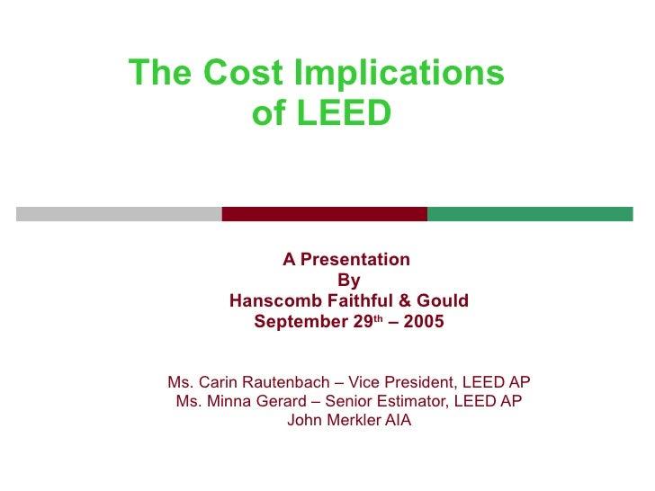 F+G Cost of LEED