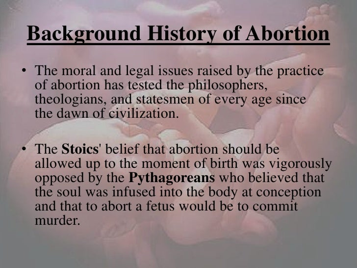 history of abortion essay
