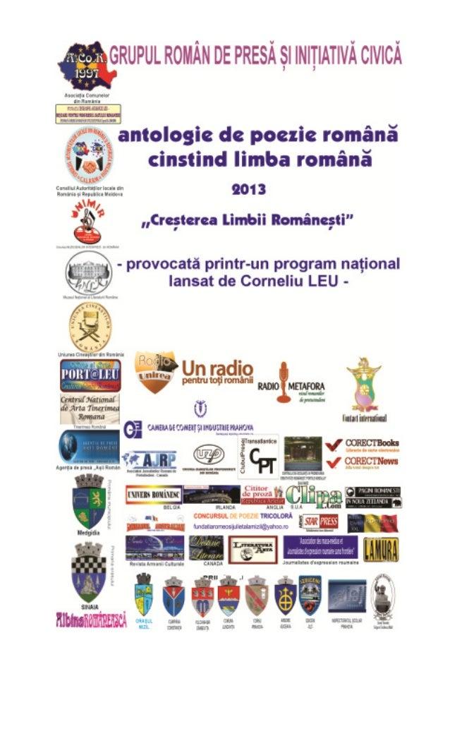 Antologie de poezie 2013 - ZIUA LIMBII ROMÂNE