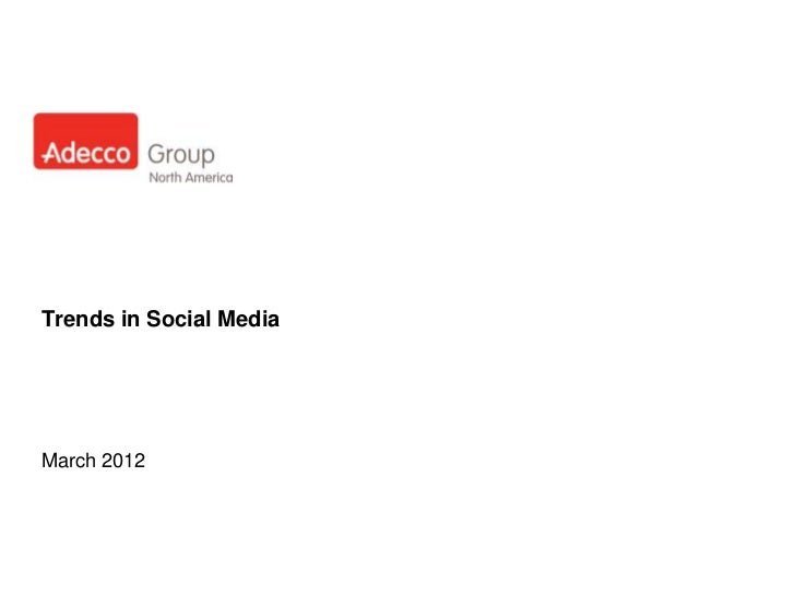 Digital Trends March 2012