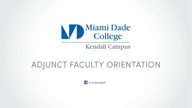 Adjunct Faculty Orientation: Academic Affairs