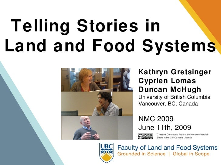 Telling Stories in Land and Food Systems              Kathryn Gretsinger              Cyprien Lomas              Duncan Mc...