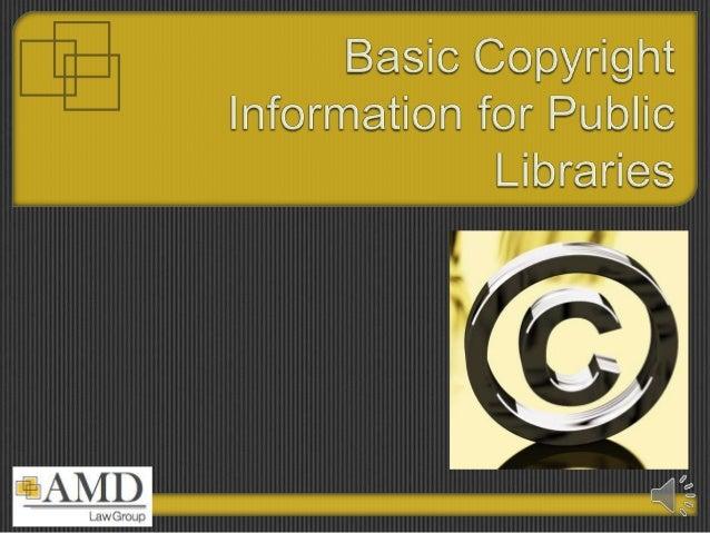 AMD LAW Library presentation regarding copyright protection