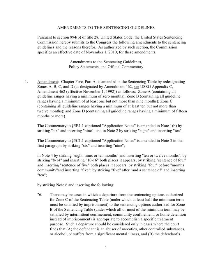 AMENDMENTS TO THE SENTENCING GUIDELINES       Pursuant to section 994(p) of title 28, United States Code, the United State...