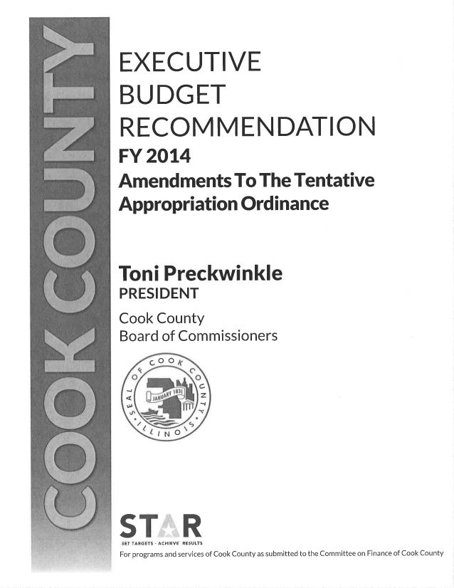 Final Amendments to the Cook County Executive Budget Recommendation