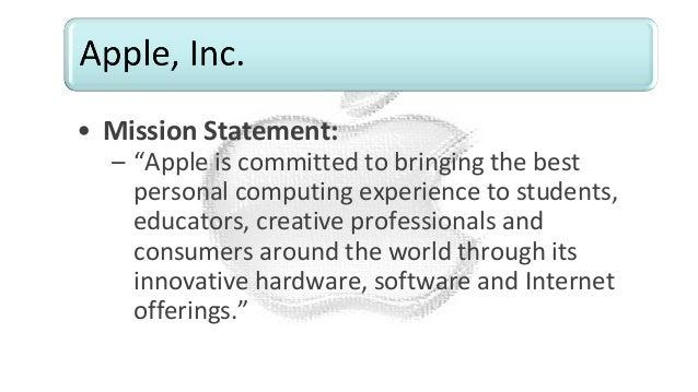apples mission statement analysis