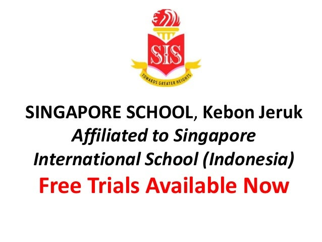 School Indonesia Singapore Singapore School Kebon Jeruk