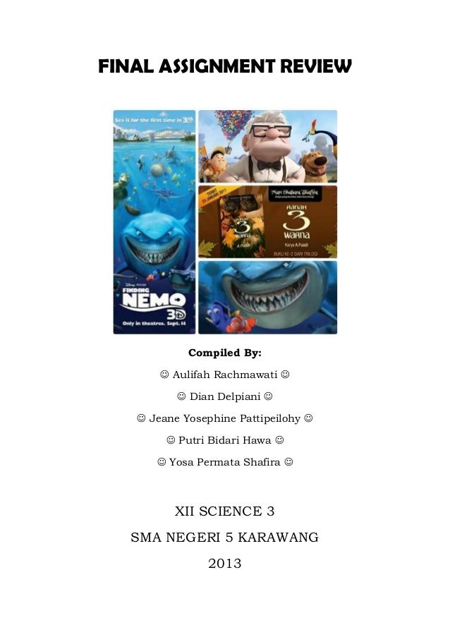 FINAL ASSIGNMENT REVIEW  Compiled By:  Aulifah Rachmawati   Dian Delpiani   Jeane Yosephine Pattipeilohy   Putri Bi...