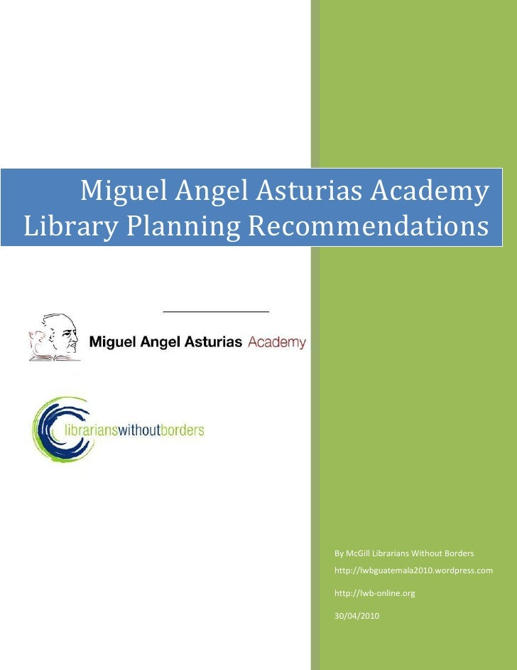 Asturias Academy Library Manual of Recommendations