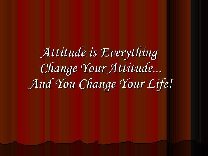 Final Attitude