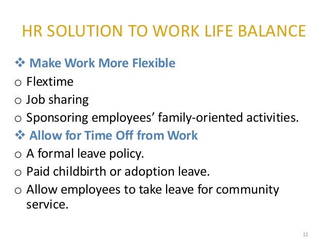 Research papers on work life balance directives