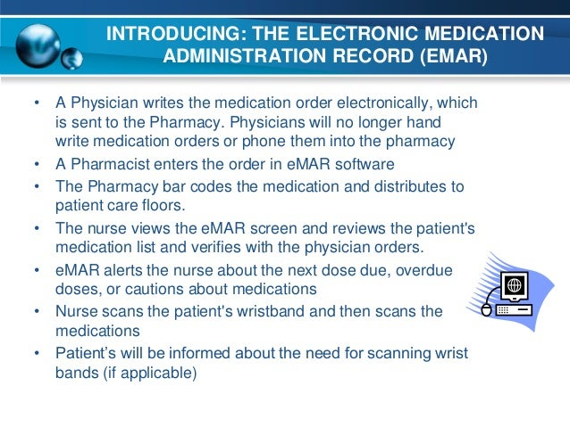 Electronic Medication System The Electronic Medication